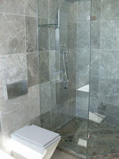 Modern toilet and shower
